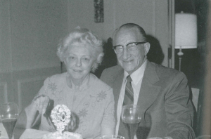 """Leota and Talbert """"Ted"""" at their 50th wedding anniversarry, January 15, 1973"""