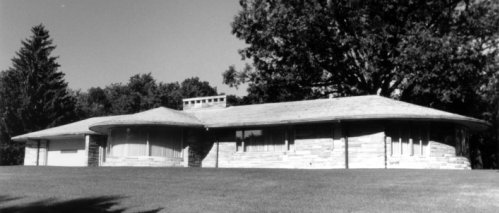 Inspired by the shadow Ted saw on the ground while flying, he decided to build the Airplane house in 1950.